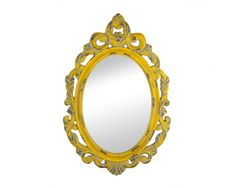 Vintage Style Eclectic Moroccan Yellow  Mirror