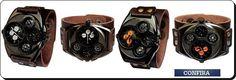 Relógio Bracelete de Couro Masculino  Visite nossa FanPage : https://www.facebook.com/Passarella-Brasil-212170078859412/?fref=ts Visite nosso site: www.passarellabrasil.com.br   #passarellabrasil  #relógiovouth  #vouth