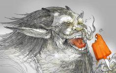Lee Misenheimer ha estado dibujando desde que tiene uso de razón, recientemente ha empezado a inspirarse en obras más oscuras y con un estilo más detallado.  http://www.flickr.com/photos/leestroy/