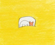 Sleeping Family Illustration, Cute Illustration, Illustrations And Posters, Mellow Yellow, Art Drawings, Abstract Drawings, Love Art, Cute Cartoon, Art Inspo