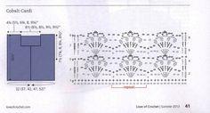 Crochetemoda: Bolero de Crochet - Cobalt Cardi
