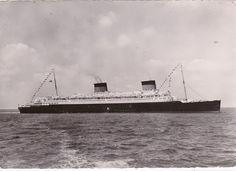 Ocenliner Compagnie Generale Transatlantique FRENCH Line, LIBERTE PU 1953