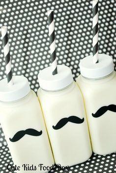 Plastic milk mustache bottles..thanks Linzi