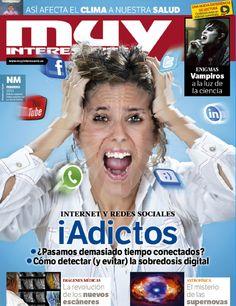 Portada de la revista Muy Interesante 381 correspondiente al mes de febrero de 2013 con el tema de portada: Adictos a Internet y las Redes Sociales