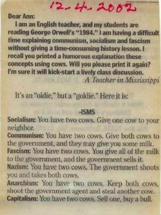 Quotable Quotes, Wisdom Quotes, Life Quotes, George Orwell, Neil Gaiman, Communism, Socialism, You Have Two Cows, Political Quotes