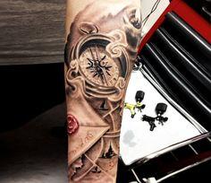 Realistic Time Tattoo by Kobay Tattoo | Tattoo No. 4292