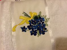 More embroided towels, I just finished