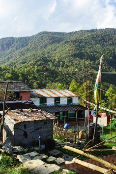 Village de Kandé point de départ du trek du Mardi Himal- Népal