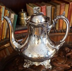 Shaw & Fisher Teapot - 1890s Victorian Design, Tea Service, High Tea, Afternoon Tea, Tea Time, Fisher, Silver Plate, Tea Cups, House Interiors
