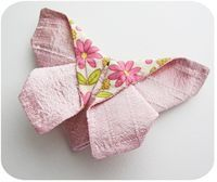 Origami butterfly - free tutorial by Michelle Patterns