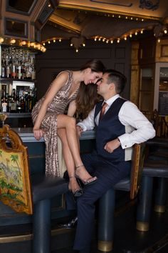 New Orleans Wedding | Hotel Monteleone | Carousel Bar | New Orleans engagement session | French Quarter | Jackson Square | Wedding | Engagement session ideas