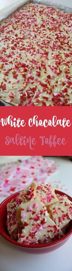 White Chocolate Valentine Bark | Recipe | White chocolate, Barking ...