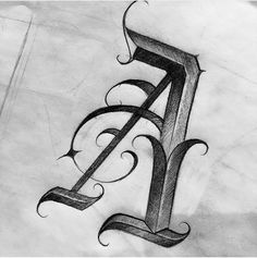 No photo description available. Calligraphy Letters Alphabet, Typography Alphabet, Graffiti Alphabet, 3d Letters, Graffiti Lettering Fonts, Types Of Lettering, Word Tattoos, Picture Tattoos, Crown Hand Tattoo