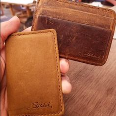 @joe.furnituremaker Cares a lot about quality and makes some fine wood products. These are a few of his Saddleback wallets; 1 is new the other a couple years in. ...Head over to our twitter @saddlebackbags and check out our pinned tweet for your chance to score a Front Pocket ID Wallet. Winner announced tomorrow!
