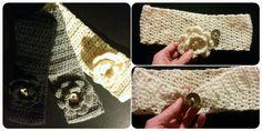 DIY crochet headband with flower / DIY hæklet pandebånd med blomst