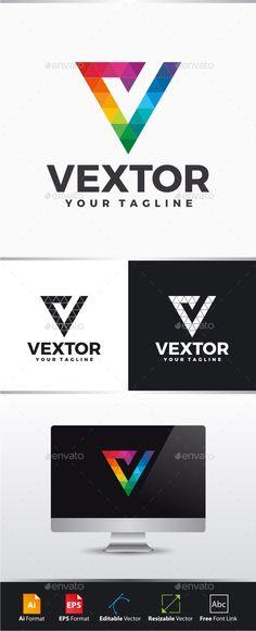 Vextor - Letter V Logo - Letters Logo Templates