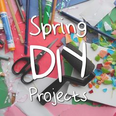 Get crafty with these spring DIY projects! Remember to share photos with us! #Spring #DIY