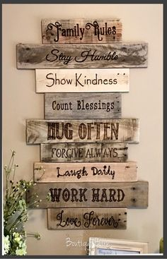 This is just the perfect Family Rule Sign I wanted. Exactly what I was looking for. Family/Family Rules Sign/Wood Sign/Wall Decor/Farmhouse Decor/Country Home Decor/Handmade/Rustic Decor/Reclaimed Wood/Gift/Housewarming #ad