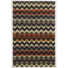 Rizzy Home New Zealand Wool Hand-tufted Gillespie Avenue Accent Rug (2' x 3') (Multi-Colored), Multi, Size 2' x 3' (Cotton, Stripe)
