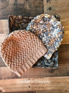Coffee Bean Slouchy Beanie - Free Pattern by Crochet It Creations.