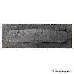 Pewter Door Metal Letter Box Plate Heavy Metal Letter Plate