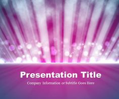 Light Rays Purple PowerPoint Template, free PowerPoint template with abstract background #PowerPoint presentations #Keynote presentations