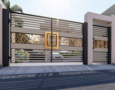 Entrance gate design You are in the right place about entrance foyer Here we offer you the most beautiful pictures about the entrance outdoor you are looking for. When you examine the Entrance gate de House Designs Exterior, House Gate Design, Gate House, Entrance Door Design, House Fence Design, Entrance Gates Design, Modern Entrance, Gate Wall Design, House Front Design
