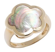 14K Yellow Gold Mother of Pearl Ring   $429.99