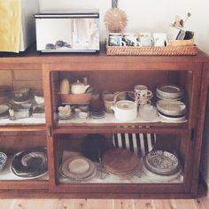 miyuriさんの、キッチン,IKEA,古道具,キッチン,和食器,北欧食器,シンプルライフ,コンテスト用です,インスタ→fcsofm,のお部屋写真