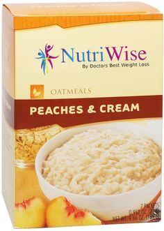 NutriWise - Peaches and Cream Protein Diet Oatmeal (7/Box) ** Special  product just for you. See it now! : Bars Snacks Weight loss dietry