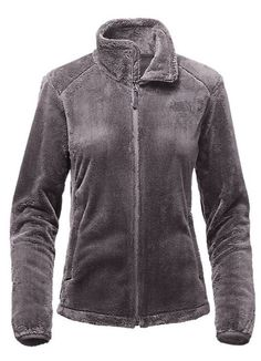 Women's Osito 2 Jacket in Rabbit Grey by The North Face is a classic fleece jacket for warmth in cool conditions and features soft Silken high-pile raschel fleece, a relaxed fit, hardface stretch fabr