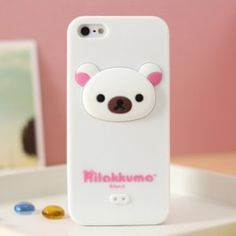 This is a new and cute Rilakkuma Bear Case for iPhone 5. Made of high quality soft material, Unique, innovative, absolutely on of a kind shatterproof. Brand new and ready to ship.