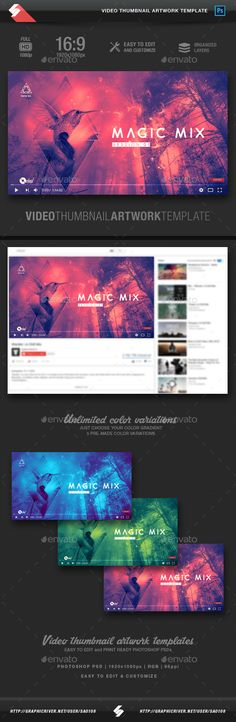 Magic Mix  Video Thumbnail Artwork Template  — PSD Template #psytrance #video • Download ➝ https://graphicriver.net/item/magic-mix-video-thumbnail-artwork-template/18458585?ref=pxcr