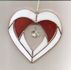Stained Glass Valentine Heart Suncatcher (VR18) picclick.com