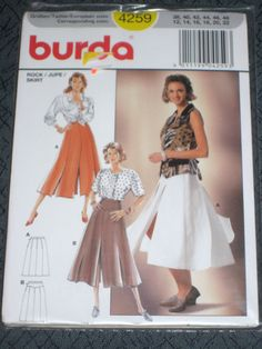 Burda 4259 Misses Rock Jupe Skirt Size 12 14 16 18 20 22 New sealed  #Burda