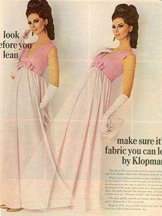 Wilhelmina Cooper - Klopman Fabrics 1967