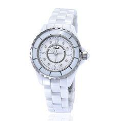 Damenuhr Keramik Armbanduhr Schweizer Quarzwerk Analog Damen Uhren 3 ATM
