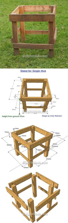 Hive Stand Designs : Build your own bee hive stand show me the honey