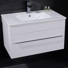 View the Wall Hung Vanity Basin Unit - White Single Drawer - Aspen Range. White Vanity Unit, Basin Vanity Unit, Basin Unit, Bathroom Vanity Units, Wall Mounted Vanity, Bathroom Basin, Vanity Cabinet, Bathroom Ideas, Cloakroom Ideas