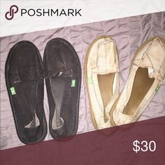 Shoes Black and blueish shoes! Sanuk Shoes Flats & Loafers