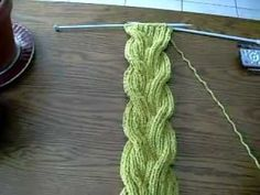 knitting cable braided scarf