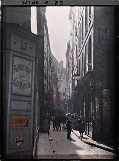 Rue de la Huchette et rue Xavier-Privas par Stéphane Passet ©Musée Albert-Kahn - Département des Hauts-de-Seine