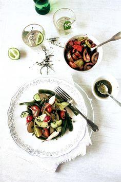 Pratos e Travessas: Saladas, tomates e o trilho de Salreu # Salads, tomatoes and Salreu´s trail | Food, photography and stories