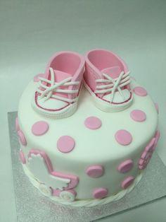 Baby Girl Welcome Cake | FONDANT CAKES | Pinterest