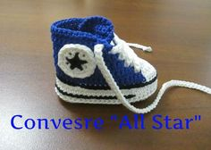 "Tutorial Uncinetto Scarpine Bebè Modello Converse ""All Star"" V Parte #1#"