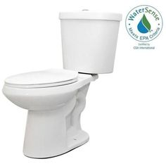 Glacier Bay 2-piece 1.1 GPF/1.6 GPF High Efficiency Dual Flush Complete Elongated Toilet in White - N2316 - The Home Depot