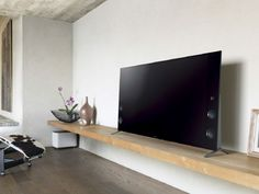 Table Furniture, Modern Furniture, Furniture Design, Floating Tv Stand, Floating Shelves, Japanese Table, Tv Wall Decor, My Dream Home, Sweet Home