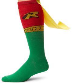 DC Comics Robin Juniors Knee High Cape Sock, http://www.amazon.com/dp/B005H3BCBQ/ref=cm_sw_r_pi_awdm_3Zwoub0N584P7
