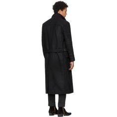 Balmain - Black Belted Coat