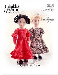 Pixie Faire Thimbles and Acorns Gigot Sleeve by PixieFairePatterns